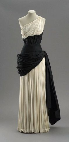 Draped Evening Dress, early 1950s Madame Grès