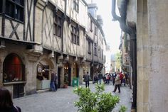 Dijon (France) began as a Roman settlement called Divio, located on the road from Lyon to Paris.