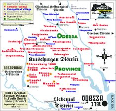 Kutschurgan District, Odessa, Cherson, South Russia Map