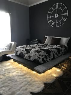 Floating Bed FrameThe Floating Bed Frame Pin By Amyia Morrison On House In 2019 Bedroom Decor Floating Bed 6 Amazing Dark Home Design Luminous Color apartment decor and 7 tips on cheap decoration concepts with luxurious style Dream Rooms, Dream Bedroom, Bedroom 2018, Fall Bedroom, Blue Bedroom Decor, Floating Bed Frame, Floating Shelves, Halloween Bedroom, Room Ideas Bedroom