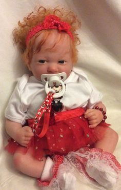 BEAUTIFUL REBORN BERENGUER BABY DOLL ROOTED RED HEAD MINNIE MOUSE INSPIRED Reborn Doll Kits, Reborn Babies, Beautiful Dolls, Redheads, Red Hair, Baby Dolls, Cute Babies, Minnie Mouse, Inspired