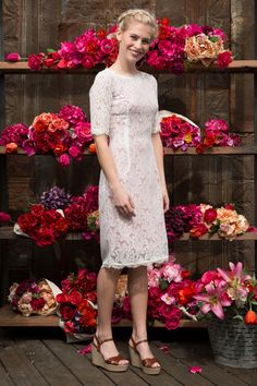 Lace With this Ring Rose Dress