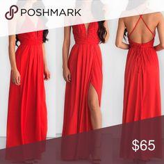 Prom dress Brand new never worn, pretty elegant red color. honey peaches Dresses Prom