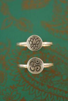 Sweet Mantra Rings. $30.00, via Etsy.