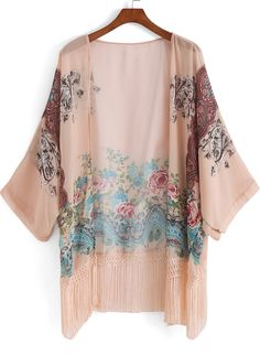 Shop Apricot Floral Tassel Loose Kimono online. SheIn offers Apricot Floral Tassel Loose Kimono & more to fit your fashionable needs.