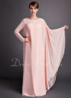 A-Line/Princess Sweetheart Floor-Length Ruffle Zipper Up Spaghetti Straps Sleeveless Yes Pearl Pink Spring Fall Winter General Plus Chiffon Mother of the Bride Dress