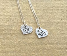 Big Sis Little Sis Necklace Sterling Silver by TomisTreasures