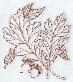Machine Embroidery Designs at Embroidery Library! - A Falling Colors (Redwork) Design Pack - Lg Embroidery Leaf, Machine Embroidery Patterns, Embroidery Stitches, Oak Leaf Tattoos, White Oak Leaf, Blatt Tattoos, Pyrography Patterns, Wood Burning Patterns, Wood Burning Projects