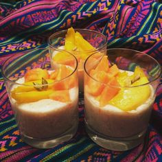The Food Accomplice's Coconut-Tapiocapearl-Pudding with Mango,Papaya,Cinnamon and Cardamom.