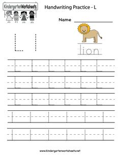 Worksheets Letter Ll Worksheets letter l worksheets and tracing letters on pinterest kindergarten writing practice worksheet printable