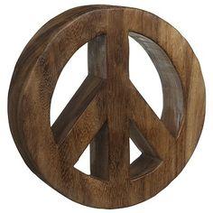john lewis wooden peace sign