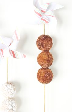 Baked Donut Holes + Pinwheel Skewers | The Fauxmartha