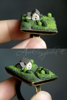What an awesome way to use an old, broken ring! By Evgenya Alexandrova