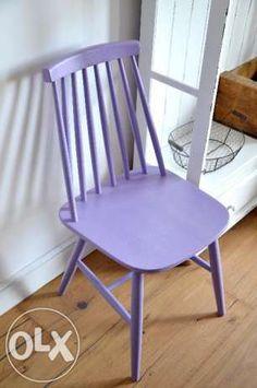 Krzesło fioletowe patyczak krzesła loft vintage country Ironica Banino - image 3