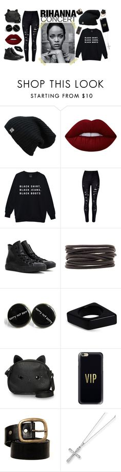 """Rihanna Concert"" by selena-sok on Polyvore featuring Lime Crime, WithChic, Converse, Isabel Marant, Marni, Loungefly, Casetify, Kevin Jewelers, Irene Neuwirth and converse"