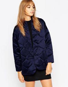 ASOS+Premium+Quilted+Satin+Jacket