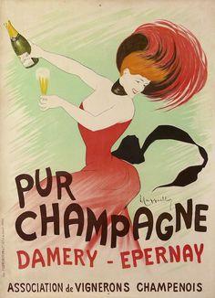 #Champagne Damery Epernay poster manifesto #vintage #original #wine www.posterimage.it