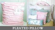 DIY Tutorial for pleated pillow