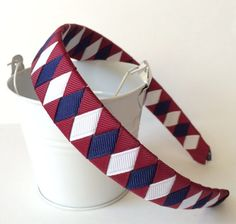 Hey, I found this really awesome Etsy listing at https://www.etsy.com/listing/162730241/burgundy-navy-school-headband-half-inch