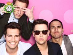 Big Time Rush|Kendall, James, Logan, & Carlos pull a sweet sunglasses stunt in the GIF booth.