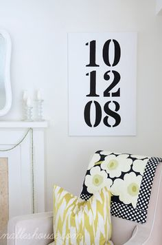 DIY canvas with wedding date
