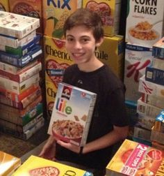 Great Mitzvah Project that easy to do! Read all about Cereal Donation. #mitzvahproject