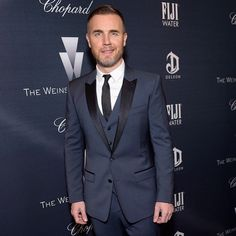 #StefanoGabbana Stefano Gabbana: Gary Barlow wearing Dolce&Gabbana to attend the Weinstein Company's Academy Awards Nominees Dinner in Los Angeles on February 21, 2015.#GaryBarlow #dgmen #dggentlemen #dgss15