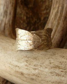 Wide Leaf Band - Silver