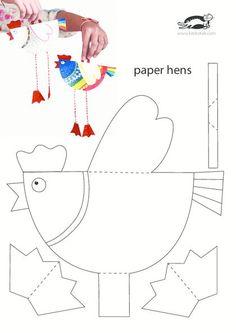 Поделки из бумаги для детей с двигающимся ротиком / Поделки и аппликации для детей / КлуКлу. Рукоделие бисероплетение, квиллинг, вышивка крестом, вязание