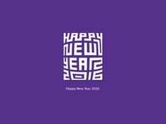 Happy New Year 2016 Typography