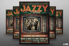 Jazz Festival Flyer Template V6 by Thats Design Store on @creativemarket