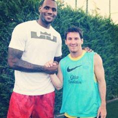 Leo Messi and Lebron James