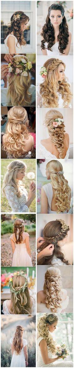 Dhermo Bela: Penteados, Inspirações para Noivas!