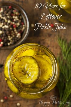 10 Uses for Leftover Pickle Juice - no need to waste it, put it to good use! You'll be amazed at some of the ways you can use pickle juice.