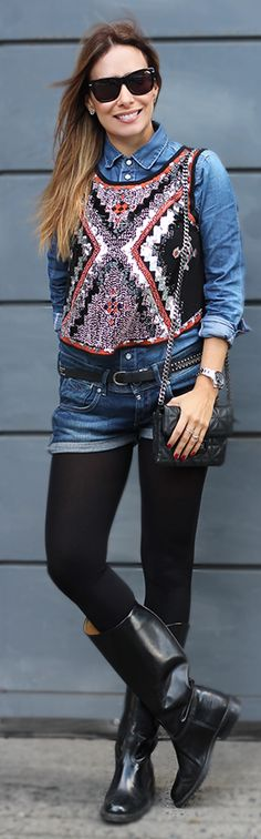 Ethnic Top On Denim Styling #Fashionistas