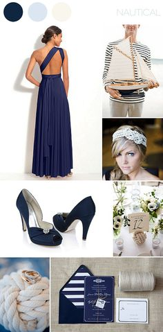b.inspired by Twobirds Bridesmaids & Rachel Simpson shoes ~ nautical navy with stripe & knot details