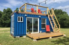You'll be shocked at just how cozy this quirky little shipping container home is. Take a peek inside.