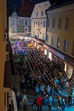 Switching on the Christmas lights in Celje