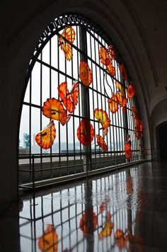 Monarch Window Dale Chihuly Installation in Tacoma Union Station. I have seen this in person and it is AMAZING!