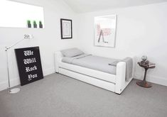 Modern Dorma Upholstered Full Bed with Trundle | Nursery Furniture ...