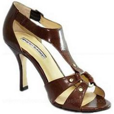 Manolo Blahnik Dark Brown Sandals