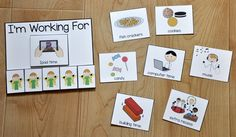 I'm Working For Card - This printable behavior support provides visual support for students with Autism and other visual learners. This reward board is ideal for students who have difficulty completing tasks, or consistently repeating a desired behavior. Behavior Plans, Classroom Behavior Management, Behavior Board, Class Management, Behavior Interventions, Behaviour Chart, Autism Classroom, Classroom Ideas, Autism Teaching