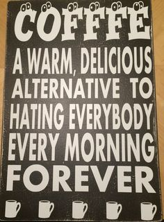 COFFEE  Painted wooden sign. A warm delicious by SignofTimess