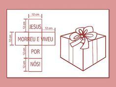 FORMAÇÃO INTEGRAL DA CRIANÇA À LUZ DA BÍBLIA: MOLDE - CAIXA O PRESENTE DA SALVAÇÃO