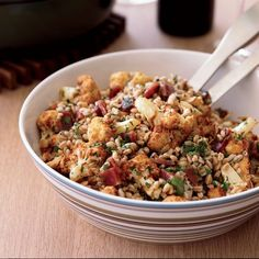 Farro Salad with Fried Cauliflower and Prosciutto | Here, Ethan Stowell deep-fries cauliflower for an inexpensive salad with salty prosciutto (you could also use ham) and nubby farro