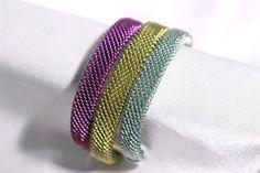 bracciali in titanio colorato maglia milanese