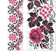Towel Embroidery, Embroidery Flowers Pattern, Hardanger Embroidery, Flower Patterns, Embroidery Stitches, Cross Stitch Designs, Cross Stitch Patterns, Ribbon Work, Beading Patterns