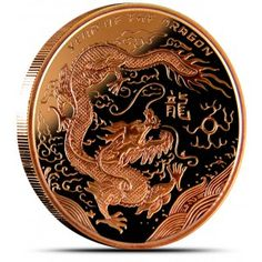 2012 Year Of The Dragon 2 Troy Oz .999 Fine Silver Round In Original Capsule