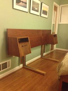 a local craigslist find- Vintage Mid-Century Modern Headboard with Floating Nightstands - $975 (chevy chase, md) - love this!