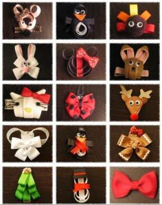 Hair Clippy Guide with Bonus Hairbow eBook In love with these! I love barrettes now that I have a littlegirl! Ribbon Art, Ribbon Crafts, Ribbon Bows, Hair Ribbons, Diy Hair Bows, Barrettes, Hairbows, Crafts For Kids, Diy Crafts